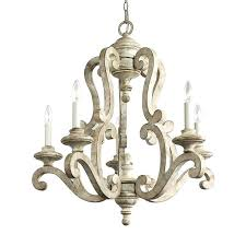 white metal chandelier wooden chandelier wood candle distressed white iron chandelier