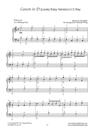 Use features like bookmarks, note taking and highlighting while reading canon in d sheet music (trumpet/piano). Miranda Wong Sheet Music Pachelbel Canon In D Easy Piano Solo In C Key With Fingerings By Miranda Wong