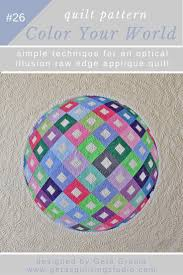 3d Quilt Patterns Impressive Optical Illusion 48D Applique Quilt Pattern