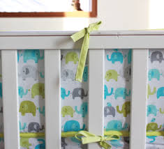 elephants 4pc baby nursery crib bedding set boy cot set applique