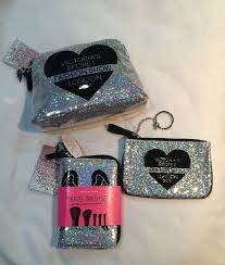 victoria s secret fashion show 2016 3 pc set big small makeup bags brush