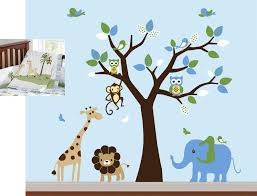 jungle wall decals for baby room ideas