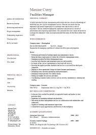 Maintenance Manager Resume Maintenance Supervisor Resume Sample