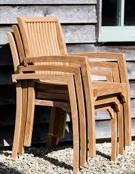 stackable teak garden chairs