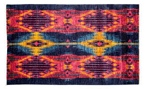 area rugs one of a kind ikat hand knotted multicolor area rug