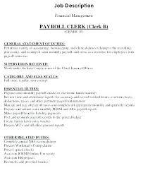Payroll Accounting Job Description 15 Payroll Accounting Job Description Sample Paystub