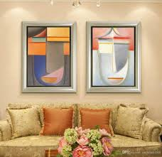 2018 modern oil painting no frame abstract face shape canvas giclee wall art pictures for living room home decor from angelart168 5 63 dhgate com