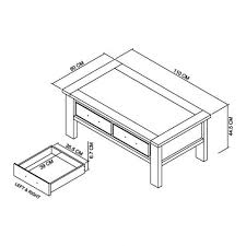 oakham coffee table with drawers