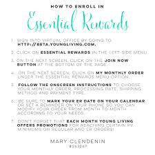 young living essential rewards how to