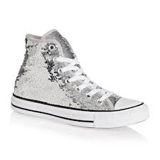 converse shoes all white. converse shoes - chuck taylor all star hi silver/white /black white h