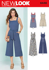 Jumpsuit Pattern Awesome New Look 48 Misses' Jumpsuits And Dresses