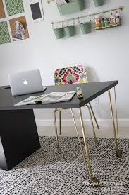 ikea office designer. Super Easy Ikea Desk Hack!! Amazing Look For Cheap! | Designer Trapped Office D