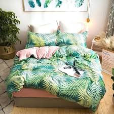 king size duvet tropical plants palm leaves bedding sets single queen king size duvet cover set