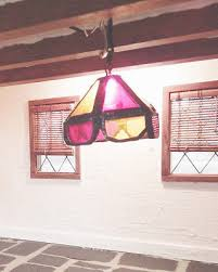 artisan vintage miniature dollhouse real leaded stained glass chandelier 1 12