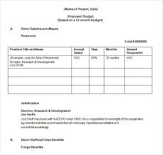 Budget Proposal Template Excel Federal Budget Proposal Template Financial Budget Plan Template 7