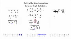 multiple step inequalities