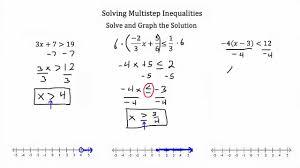 multiple step inequalities
