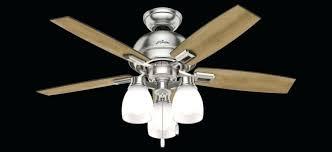 3 light ceiling fan inch led in brushed nickel with 5 dark walnut blade hunter 52