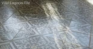 Decorative Cement Tiles Nuevo Castillo decorative cement tile in twotone gray Floor 2