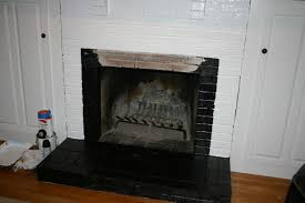 painted fireplace trial and error shine your light black brick