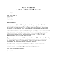 Construction Management Cover Letter Examples Construction Manager