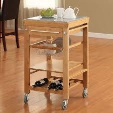 linon bamboo kitchen island cart with granite top inlay