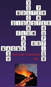 one clue crossword volcano answer