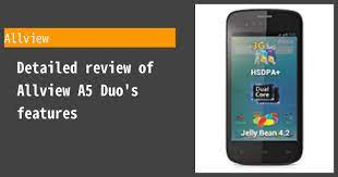 Allview A5 Duo - Features and reviews ...