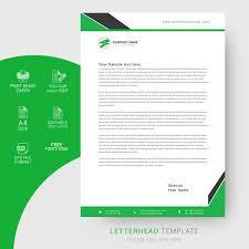Creative Letterhead Design Template Free Download Wisxi Com