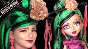 jinafire long monster high doll costume makeup tutorial for cosplay or you