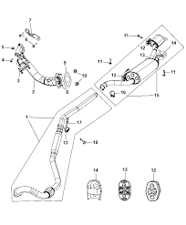 2010 chrysler town country exhaust system diagram i2237498