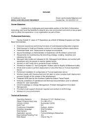 Release Engineer Sample Resume Resume Cv Cover Letter