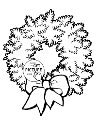 Small Picture wreath with bow coloring pages for kids printable free