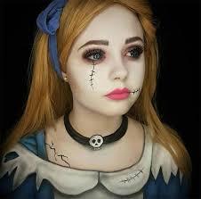 creative halloween makeup ideas zombie alice halloween makeup