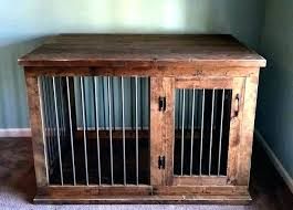 dog crate table pet furniture end cool design kennel custom double wood diy wooden c