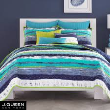 Cordoba Teal Quilted Coverlet Bedding from J by J Queen New York &  Adamdwight.com