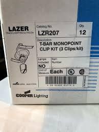 Track Lighting Clips 36 X Cooper Track Lighting Fitting Lazer Lzr 207 Lzr207 T Bar Mounting Clip Kit