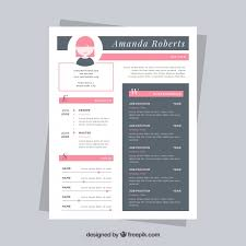 Nice Resume Templates Beauteous Nice Resume Template Vector Free Download