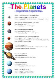 Solar System Worksheets For Kindergarten Math List Of Planets In ...