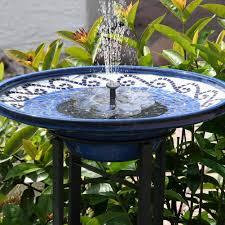 Solar Light Up Water Feature Omway Solar Fountain Pump Solar Powered Bird Bath Fountain