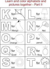 Letters Coloring Pages Printable Worksheets Toddler Alphabet Letter