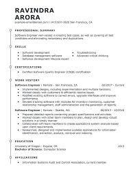 Resume Software Engineer Best Software Engineer Resume Example Livecareer