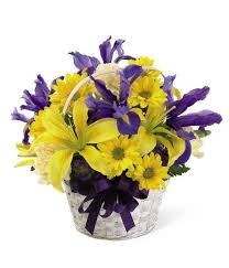 the spring delights basket from grower direct fresh cut flowers easter flower arrangement