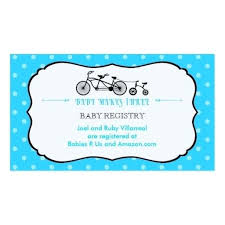 baby shower registry cards template free registry business card templates for baby shower inserts template