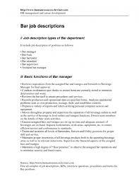 Bar Manager Job Description Resume Plus List Good Details 6 Bar Manager Job  Description Resume Resume ...