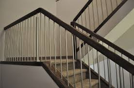 Contemporary Metal Stair Railings Interior Division Stairs