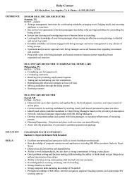 Healthcare Recruiter Resume Samples Velvet Jobs