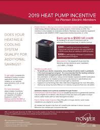 Incentive Flyer Rebates Incentives Pioneer Electric Cooperative