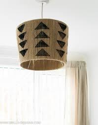 hanging diy jute lampshade grillo designs