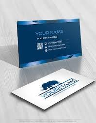 Exclusive Design Rhino Logo Compatible Free Business Card